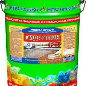 """Фото 1 - Мастика """"Гидролон УФ"""" гидроизоляционный наливной состав для кровли 2К """"КрасКо""""."""