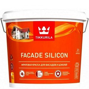 """Фото 8 - Краска """"Фасад Силикон""""(Facade Silicon) акриловая матовая для фасадов и цоколей """"Тиккурила/Tikkurila""""."""