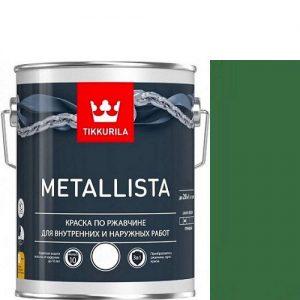 """Фото 1 - Краска """"Металлиста"""" (Metallista) Зеленая гладкая, по ржавчине для металла """"Тиккурила/Tikkurila""""."""