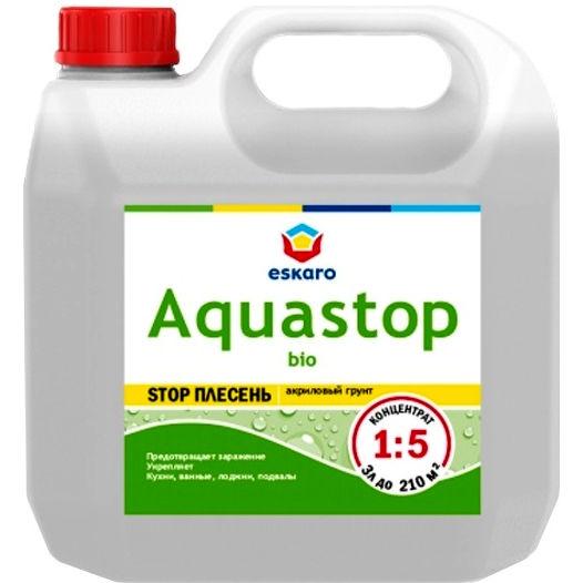 """Фото 3 - Грунт-Концентрат """"Аквастоп Био"""" (Aquastop Bio) 1:5 акриловый влагоизолятор с биоцидами  [1 л] Эскаро/ Eskaro."""