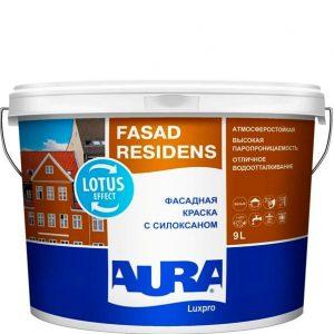 "Фото 1 - Краска ""Фасад Ресиденс"" (Fasad Residens) фасадная латексная матовая с силоксаном ""Аура/Aura""."