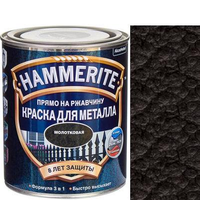 "Фото 1 - Краска ""Hammerite"" Черная, молотковая для металла 3 в 1 ""Хаммерайт""."