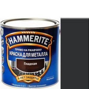 """Фото 16 - Краска """"Hammerite"""" Черная, гладкая глянцевая для металла 3 в 1 """"Хаммерайт""""."""