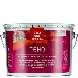 "Фото 6 - Краска ""Техо"" (Teho Öljymaali) масляная полуглянцевая для древесины ""Тиккурила/Tikkurila""."
