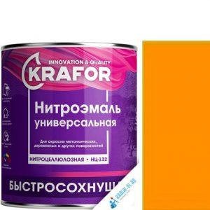"""Фото 3 - НитроЭмаль """"НЦ-132 Желтая"""" универсальная быстросохнущая гладкая """"Крафор/Krafor""""."""