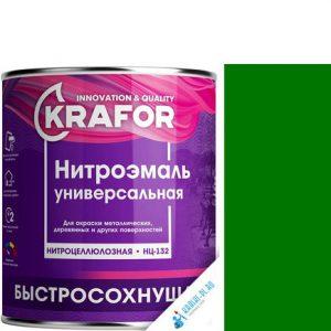 """Фото 4 - НитроЭмаль """"НЦ-132 Зеленая"""" универсальная быстросохнущая гладкая """"Крафор/Krafor""""."""