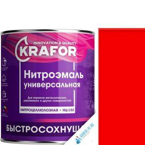 """Фото 6 - НитроЭмаль """"НЦ-132 Красная"""" универсальная быстросохнущая гладкая """"Крафор/Krafor""""."""