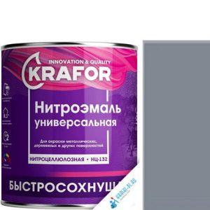 """Фото 7 - НитроЭмаль """"НЦ-132 Серая"""" универсальная быстросохнущая гладкая """"Крафор/Krafor""""."""