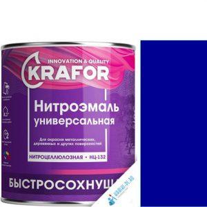 """Фото 8 - НитроЭмаль """"НЦ-132 Синяя"""" универсальная быстросохнущая гладкая """"Крафор/Krafor""""."""