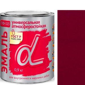 """Фото 4 - Эмаль """"ПФ-115 Вишневая"""" универсальная глянцевая алкидная """"Альфа Krafor""""."""