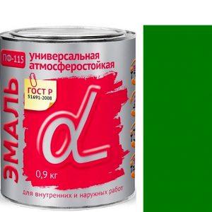 """Фото 7 - Эмаль """"ПФ-115 Зеленая"""" универсальная глянцевая алкидная """"Альфа Krafor""""."""