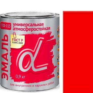 """Фото 9 - Эмаль """"ПФ-115 Красная"""" универсальная глянцевая алкидная """"Альфа Krafor""""."""