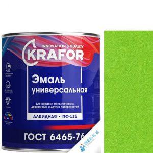 """Фото 14 - Эмаль """"ПФ-115 Салатная"""" универсальная глянцевая алкидная """"Крафор/Krafor""""."""