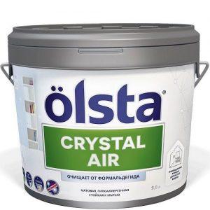"""Фото 13 - Краска """"Кристал Аир"""" (Crystal Air)  матовая с функцией нейтрализации формальдегида """"Олста/Olsta""""."""
