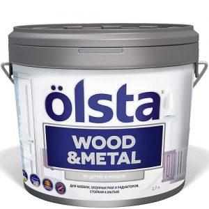 """Фото 9 - Краска """"Вуд Металл"""" (Wood@Metal) акриловая универсальная по дереву и металлу """"Олста/Olsta""""."""