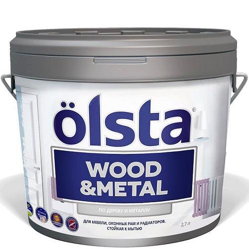 """Фото 1 - Краска """"Вуд Металл"""" (Wood@Metal) акриловая универсальная по дереву и металлу """"Олста/Olsta""""."""