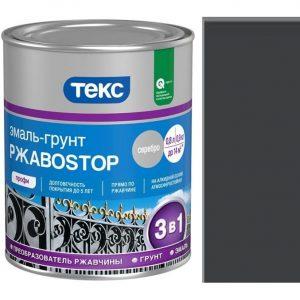 """Фото 11 - Грунт-Эмаль """"РжавоStop Черная"""" глянцевая по ржавчине для металла """"Текс""""."""