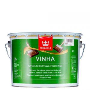 """Фото 8 - Краска-Антисептик """"Винха"""" (Vinha) кроющая полуматовая для древесины """"Тиккурила/Tikkurila""""."""