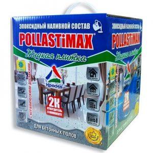 """Фото 9 - Грунт-Пропитка """"Упрочняющий POLLASTiMAX"""" эпоксидная двухкомпонентная для бетонных полов 2К [База А- под колеровку] """"КрасКо""""."""