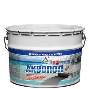 """Фото 1 - Краска """"Аквопол"""" матовая для бетонных полов на водной основе  """"КрасКо"""" RAL7040 10кг-20кг."""