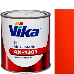 """Фото 10 - Автоэмаль """"АК-1301  165 Тёмная Красно-Оранжевая"""" акриловая двухкомпонентная полуглянцевая """"Vika""""."""