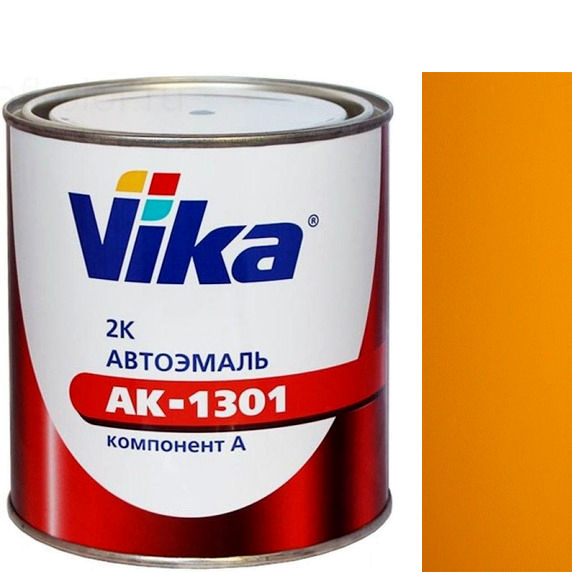 """Фото 21 - Автоэмаль """"АК-1301  286 Золотисто-Жёлтая"""" акриловая двухкомпонентная полуглянцевая """"Вика/Vika""""."""