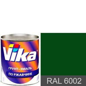 """Фото 5 - Грунт-эмаль """"RAL 6002 Лиственно-зеленая"""", шелковисто-матовая по ржавчине,  """"Вика/Vika""""."""