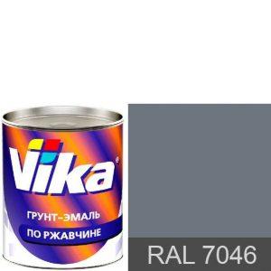 """Фото 7 - Грунт-эмаль """"RAL 7046 Телегрей"""", шелковисто-матовая по ржавчине,  """"Вика/Vika""""."""