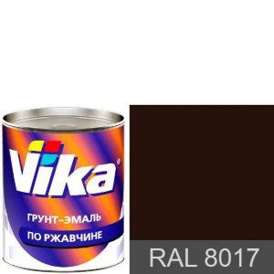"Фото 8 - Грунт-эмаль ""RAL 8017 Шоколадно-коричневая"", шелковисто-матовая по ржавчине,  ""Вика/Vika""."