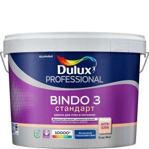"""Фото 9 - Краска """"Dulux"""" Биндо 3 (Bindo 3), акриловая глубокоматовая для стен и потолков """"AkzoNobel""""."""