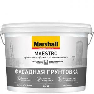 "Фото 3 - Грунтовка ""Marshall"" Маэстро (Maestro) фасадная акриловая глубокого проникновения ""Маршал""."