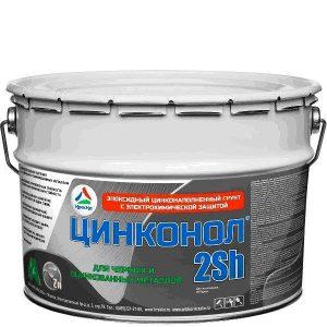 Фото 2 - Цинконол-2Sh - эпоксидный цинконаполненный грунт для металла  с электрохимической защитой 20кг.