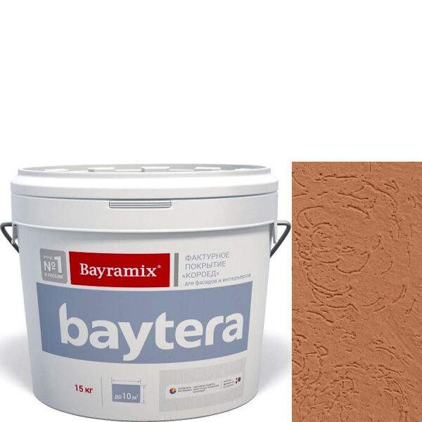 """Фото 1 - Покрытие """"Байтера Короед 072"""" (Baytera) фактурное для внутр/наружных  работ """"Байрамикс/Bayramix""""."""