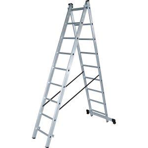 """Фото 8 - """"Лестница-Стремянка"""" 2 секции алюминиевая многоцелевая """"Новая Высота""""."""