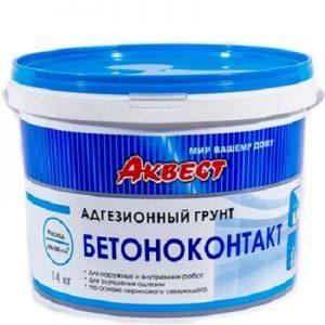 """Фото 2 - Грунт """"Бетоноконтакт"""" специальный адгезионный """"Аквест""""."""