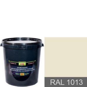 """Фото 4 - Покрытие """"Аквест -101 RAL 1013 Жемчужно-белый"""" Эпоксидное двухкомпонентное для наливных полов."""