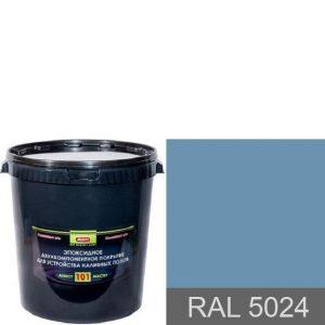 """Фото 12 - Покрытие """"Аквест -101 RAL 5024 Пастельно-синий"""" Эпоксидное двухкомпонентное для наливных полов."""