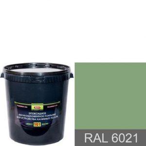 """Фото 15 - Покрытие """"Аквест -101 RAL 6021 Бледно-зеленый"""" Эпоксидное двухкомпонентное для наливных полов."""