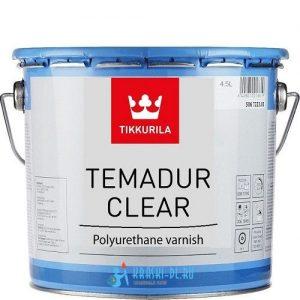 """Фото 1 - Лак """"Темадур Клиэ"""" (Temadur Clear) полиуретановый высокоглянцевый 2К """"Tikkurila Industrial""""."""