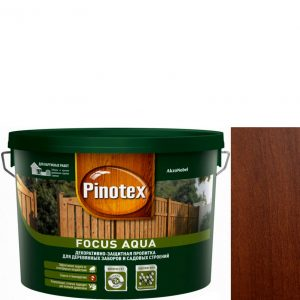 """Фото 4 - Пропитка """"Pinotex Focus Aqua"""" Орех, полуматовая для защиты древесины """"Пинотекс""""."""