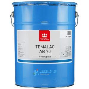 "Фото 16 - Краска ""Темалак АБ 70"" (Temalac AB 70) алкидная глянцевая для металла ""Tikkurila Industrial""."