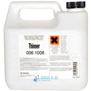 "Фото 12 - Растворитель ""Thinner"" 006 1006  ""Tikkurila Industrial""."