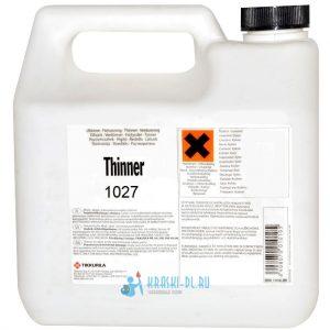 "Фото 17 - Растворитель ""Thinner"" 1027  ""Tikkurila Industrial""."