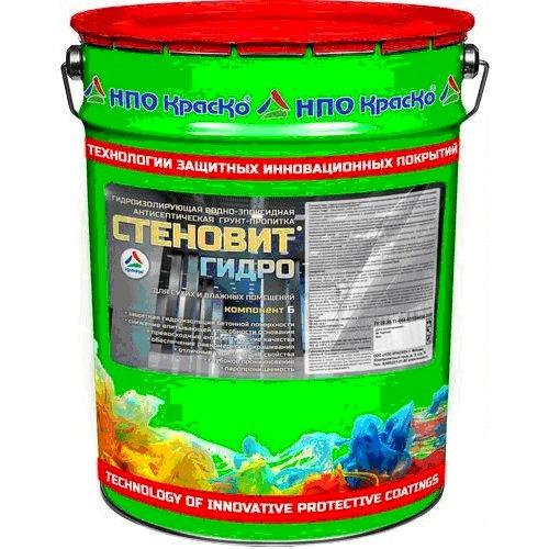 """Фото 7 - Грунт-Пропитка Стеновит Гидро антисептическая гидроизолирующая для внутренних работ """"Вес - 20 кг"""" КрасКо."""