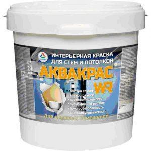 """Фото 5 - Краска """"Аквакрас WR"""" матовая латексная укрывистая интерьерная для влажных помещений """"КрасКо"""" 20 кг Супер белая."""