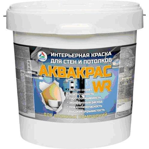 """Фото 5 - Краска """"Аквакрас WR"""" матовая латексная укрывистая интерьерная для влажных помещений """"Цвет Белый"""" """"Вес - 20 кг"""" КрасКо."""