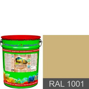 Фото 9 - Древопласт - краска по дереву для наружных работ (RAL 1001) 10кг-20кг.