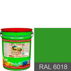 Фото 6 - Древопласт - краска по дереву для наружных работ (RAL 6018) 8 кг.