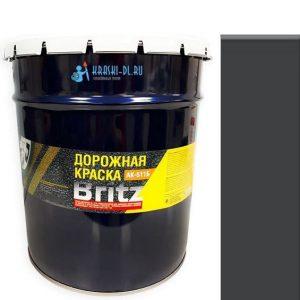 """Фото 10 - Краска """"АК 511"""" Черная, акриловая матовая для дорожной разметки """"Бритц/Britz"""" 25КГ."""