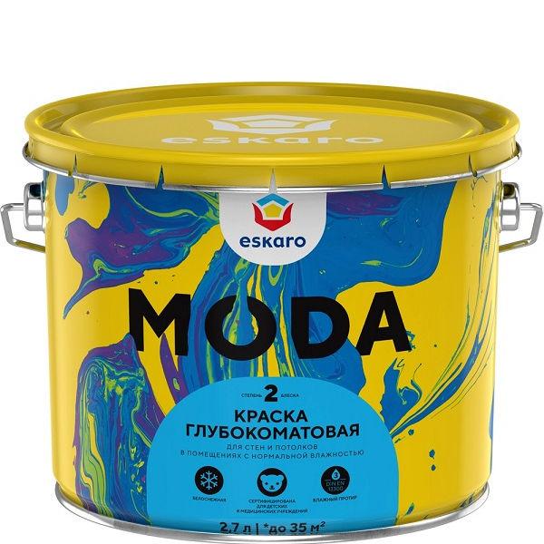 """Фото 1 - Краска """"Мода 2"""" (Moda 2)  глубокоматовая для стен и потолков """"Эскаро/Eskaro""""."""